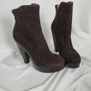 NWOT Giuseppe Zanotti Brown Suede Platform Ankle